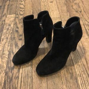 Sam Edelman black suede booties size 7.5